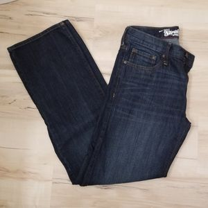 Old Navy dark wash straight leg jeans 32x34